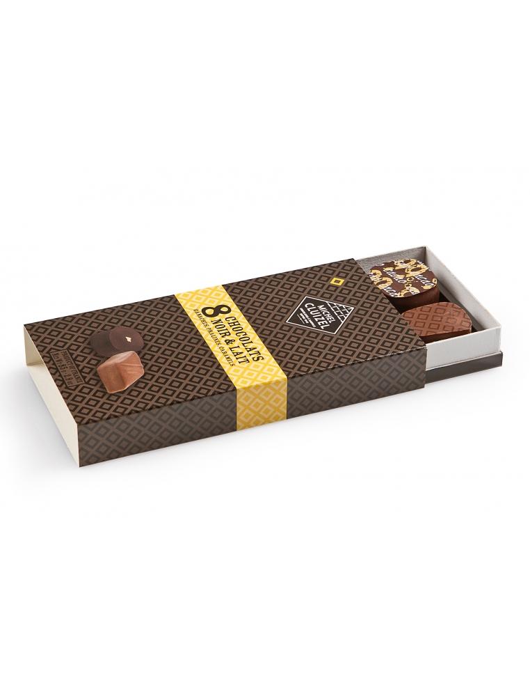 Michel Cluizel N8 piena & tumšo šokalādu dāvanu kaste