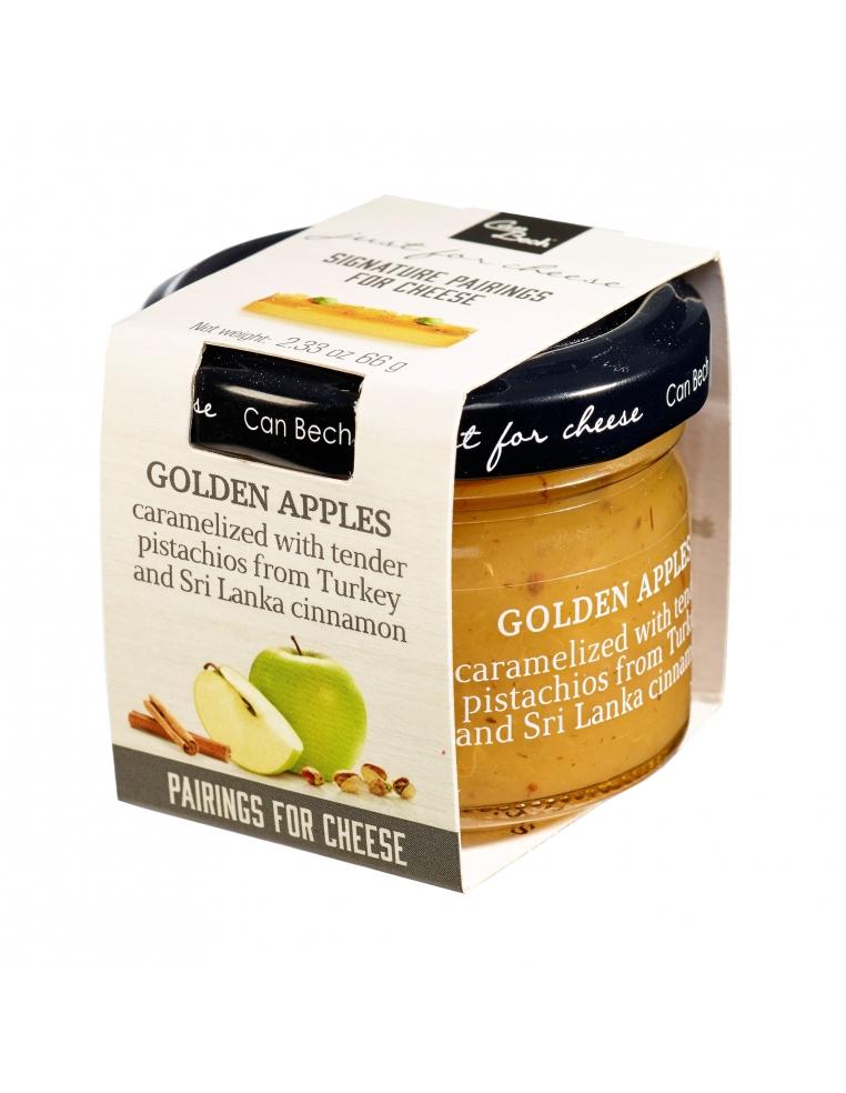 Saldā mērce no karamelizētiem Golden šķirnes ābolu gabaliņiem ar maigām pistācijām no Turcijas un Šrilankas kanēli 66g
