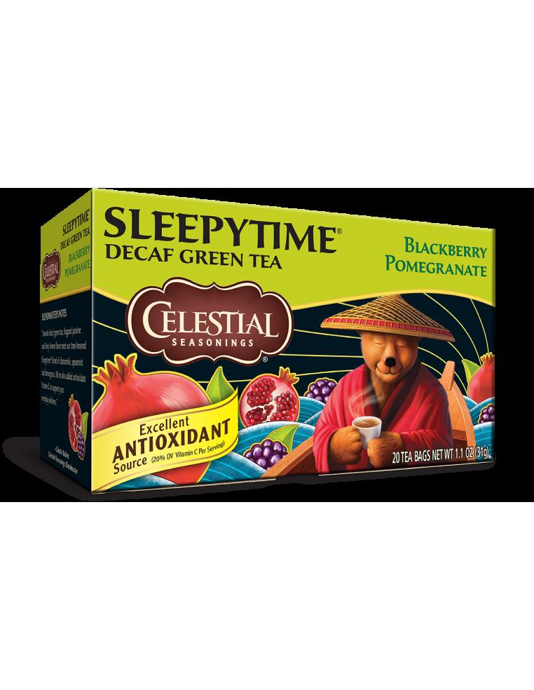 SLEEPYTIME DECAF BERRY POMEGRANATE – VAKARA TĒJA BEZ KOFEĪNA AR OGĀM UN GRANĀTĀBOLU