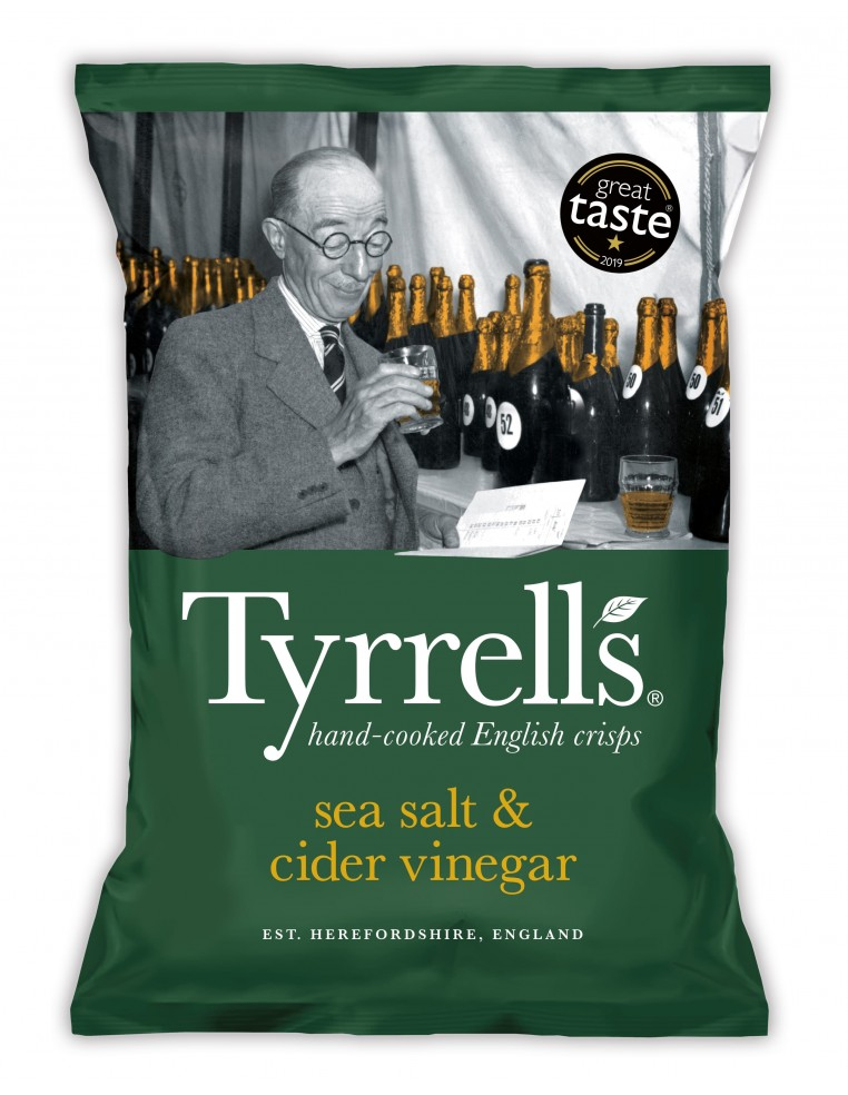 Tyrrells Potato Chips With Sea Salt...