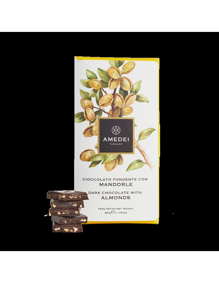 AMEDEI DARK CHOCOLATE 63% WITH ALMONDS